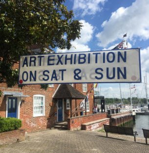 Art exhibition sign